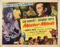 Memorabilia:Poster, Master Minds Bowery Boys Movie Poster (Monogram, 1949)....