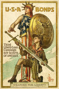 "Movie Posters:War, USA Bonds-Boy Scouts of America (American Lithographic Co., 1918).J.C. Leyendecker Poster (20"" X 30"").. ..."