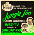 "Movie Posters:Adventure, Jungle Jim Television Show (WBZ-TV, 1955-56). Jumbo Window Card(20.5"" X 21.5"").. ..."