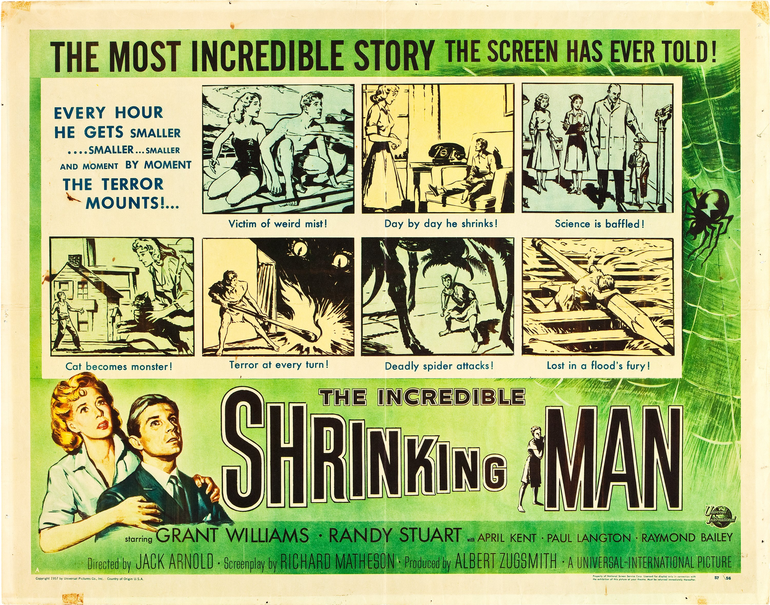THE INCREDIBLE SHRINKING MAN MOVIE POSTER Rare Vintage