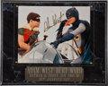 Movie/TV Memorabilia:Autographs and Signed Items, A Batman & Robin Signed Commemorative Display....