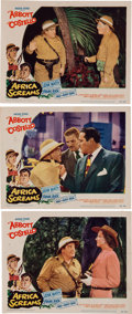"Movie/TV Memorabilia:Posters, Abbot and Costello ""Africa Screams"" Lobby Cards, 1949...."