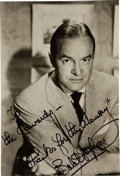 Movie/TV Memorabilia:Autographs and Signed Items, A Bob Hope Signed Photo....