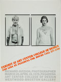 Movie/TV Memorabilia:Photos, Richard Avedon Signed Exhibition Poster, 1976....