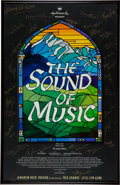 "Movie/TV Memorabilia:Autographs and Signed Items, A ""Sound of Music"" Broadway Revival Poster Signed by Cast...."