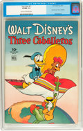 Golden Age (1938-1955):Cartoon Character, Four Color #71 Three Caballeros (Dell, 1945) CGC VF/NM 9.0 Lighttan to off-white pages....