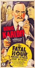 "Movie Posters:Mystery, The Fatal Hour (Monogram, 1940). Three Sheet (41"" X 81"").. ..."