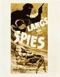 "Movie Posters:Thriller, Spies (MGM, 1928). Art Photos (3) (8"" X 10"") and (1) (6.5"" X9.5"").. ... (Total: 4 Items)"