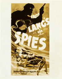 """Spies (MGM, 1928). Art Photos (3) (8"""" X 10"""") and (1) (6.5"""" X 9.5""""). ... (Total: 4 Items)"""