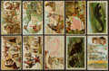 Non-Sport Cards:Lots, 1890's K1-K8 Arbuckle Brothers Coffee Trade Card Collection (110+)....