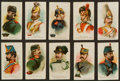 "Non-Sport Cards:Sets, 1901 E1 Breisch-Williams ""Army"" Complete Set (25). ..."