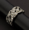 Estate Jewelry:Rings, Diamond & Platinum Band. ...