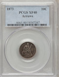 Seated Dimes: , 1873 10C Arrows XF40 PCGS. PCGS Population (15/157). NGC Census:(1/139). Mintage: 2,378,500. Numismedia Wsl. Price for pro...