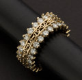 Estate Jewelry:Rings, Yellow Gold Diamond Eternity Ring. ...