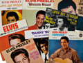 Music Memorabilia:Recordings, Elvis Presley 45 Import Group of 20 with 7 Picture Sleeves....(Total: 20 Items)