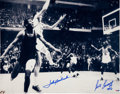 Basketball Collectibles:Photos, John Havlicek and Bill Russell Multi Signed OversizedPhotograph....