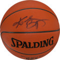 "Basketball Collectibles:Balls, Kobe Bryant Signed ""Spalding"" NBA Leather Basketball. ..."