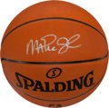 "Basketball Collectibles:Balls, Magic Johnson Signed ""Spalding"" NBA Leather Basketball. ..."