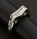 Estate Jewelry:Rings, 18k Gold Diamond Wedding Band. ...