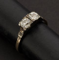 Estate Jewelry:Rings, Early Diamond & Gold Ring. ...