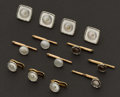 Estate Jewelry:Cufflinks, Mother Of Pearl Gold Studs & Buttons. ... (Total: 13 Items)