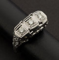 Estate Jewelry:Rings, Outstanding Diamond & Gold Ring. ...