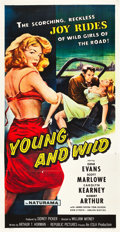 "Movie Posters:Bad Girl, Young and Wild (Republic, 1958). Three Sheet (41"" X 81"").. ..."