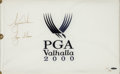 "Golf Collectibles:Autographs, Tiger Woods Signed ""Tiger Slam"" Upper Deck Authenticated Flag. ..."