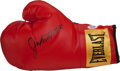 Boxing Collectibles:Autographs, Jake LaMotta Signed Boxing Glove. ...