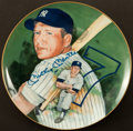 Baseball Collectibles:Others, Mickey Mantle Signed Plate. ...