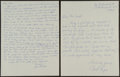Baseball Collectibles:Others, 1989 Joe Sewell Signed, Handwritten Letter Regarding Babe Ruth's Called Shot Home Run....
