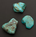 Estate Jewelry:Lots, Three Large Unmounted Turquoise Stones. ... (Total: 3 Items)