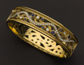 Estate Jewelry:Bracelets, Exceptional Diamond & Sapphire Gold Bangle Bracelet. ...