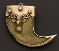 Estate Jewelry:Pendants and Lockets, Striking Diamond & Gold Claw Pendant. ...