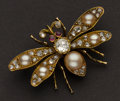 Estate Jewelry:Brooches - Pins, Dramatic Diamond Butterfly Pin. ...