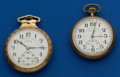 Timepieces:Pocket (post 1900), Two Illinois 21 Jewel Pocket Watches Runners. ... (Total: 2 Items)