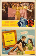 "Movie Posters:Comedy, Ball of Fire (RKO, 1941). Title Lobby Card and Lobby Card (11"" X14"").. ... (Total: 2 Items)"