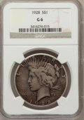 Peace Dollars: , 1928 $1 Good 6 NGC. NGC Census: (2/5379). PCGS Population (4/7580).Mintage: 360,649. Numismedia Wsl. Price for problem fre...