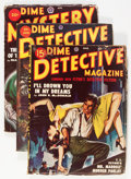 Pulps:Detective, Dime Detective/Dime Mystery Group (Popular, 1937-52) Condition: Average VG.... (Total: 8 Items)