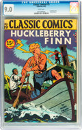 Golden Age (1938-1955):Classics Illustrated, Classic Comics #19 Huckleberry Finn - First Edition (Gilberton,1944) CGC VF/NM 9.0 White pages....