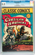Golden Age (1938-1955):Classics Illustrated, Classic Comics #20 The Corsican Brothers - First Edition(Gilberton, 1944) CGC VF 8.0 White pages....