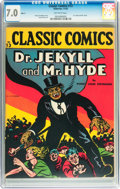 Golden Age (1938-1955):Horror, Classic Comics #13 Dr. Jekyll and Mr. Hyde HRN 15 (Gilberton, 1943)CGC FN/VF 7.0 Off-white pages....