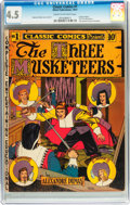 Golden Age (1938-1955):Classics Illustrated, Classic Comics #1 The Three Musketeers - first edition (Elliott,1941) CGC VG+ 4.5 Cream to off-white pages....