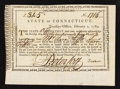 Colonial Notes:Connecticut, Connecticut Treasury Certificate 6% Interest £31 5s February 1,1789 Very Fine-Extremely Fine Anderson CT 26.. ...