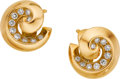 Estate Jewelry:Earrings, Diamond, Gold Earrings, Van Cleef & Arpels, France. ...