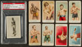 Boxing Cards:General, 1880's-1930's Boxing Card Collection (28) Including Johnson andSullivan. ...
