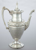 Silver Holloware, American:Coffee Pots, A GORHAM COIN SILVER COFFEE POT . Gorham Manufacturing Co.,Providence, Rhode Island, circa 1855. Marks: (lion-anchor-G),...