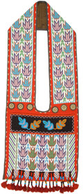 American Indian Art:Beadwork and Quillwork, A POTAWATOMI BEADED CLOTH BANDOLIER . c. 1890. ...