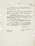 Autographs:Non-American, Leon Trotsky Typed Letter Signed....
