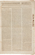 Miscellaneous:Newspaper, [Revolutionary War] and [Treaty of Paris]. The ConnecticutJournal Newspaper....